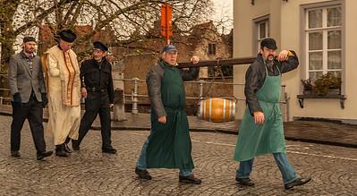 Bruges Christmas Procession - with Bier Keg(!)