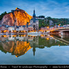 Europe - Belgium - Wallonia - Namur Province - Upper Meuse valley - Dinant - Historical town on the River Meuse with citadel, the collegiate church and the Meuse