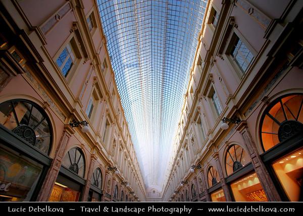 Belgium - Brussels - Bruxelles - Brussel - Galeries St Hubert - Shopping Gallery