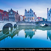 Europe - Belgium - West Flanders - Bruges - Brugge - UNESCO World Heritage Site - Well preserved medieval historic city - One of the most beautiful cities in Europe - Veritable open air museum with cobbled streets & waterways
