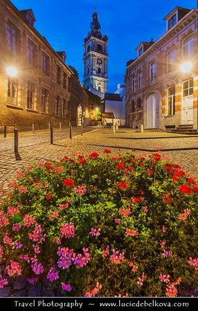 Europe - Belgium - Wallonia - Hainaut Province - Mons - European Capital of Culture 2015 - Mons Belfry - UNESCO World Heritage Site - Baroque-style belfry dating from the 17th century
