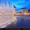 Europe - Belgium - Wallonia - Hainaut Province - Mons - European Capital of Culture 2015 - Grand Place - Centre of the historic town at Dusk - Twilight - Blue Hour - Night