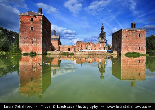 Europe - Belgium - Wallonia - Hainaut Province - Mons - European Capital of Culture 2015 - Grand Hornu - UNESCO World Heritage Site - Chateau de Havre - Havré Castle - beautiful ancient ruined building dating back to the 12th century