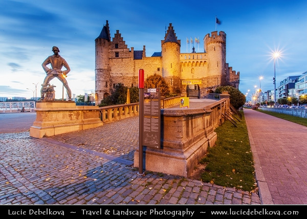 Europe - Belgium - Flanders - Antwerp - Antwerpen - Het Steen - Medieval fortress in old city centre & Antwerp's oldest building