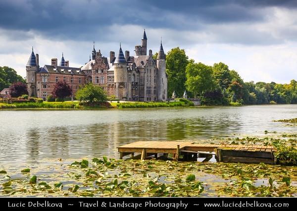 Europe - Belgium - Flanders - Antwerp Province - Bornem Castle - De Marnix de Sainte-Aldegonde Castle on banks of Scheldt River