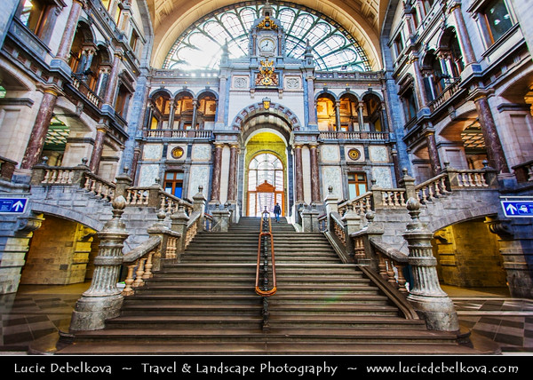 Europe - Belgium - Flanders - Antwerp - Antwerpen - Antwerpen-Centraal - Antwerp Central - Main railway station