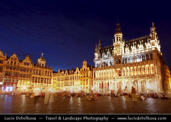 Belgium - Brussels - Bruxelles - Brussel - Grand Place - Grote Markt - Central square with the city's Town Hall - Most important tourist destination & most memorable landmark in Brussels - UNESCO World Heritage Site