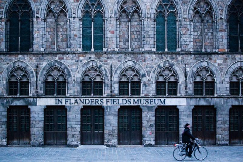 Exterior of the 'In Flanders' Fields' Museum in Ypres, Belgium.