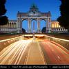 Belgium - Brussels - Bruxelles - Brussel - Arc de Triomphe and Tunnel Belliard - Parc du Cinquantenaire-Jubelpark