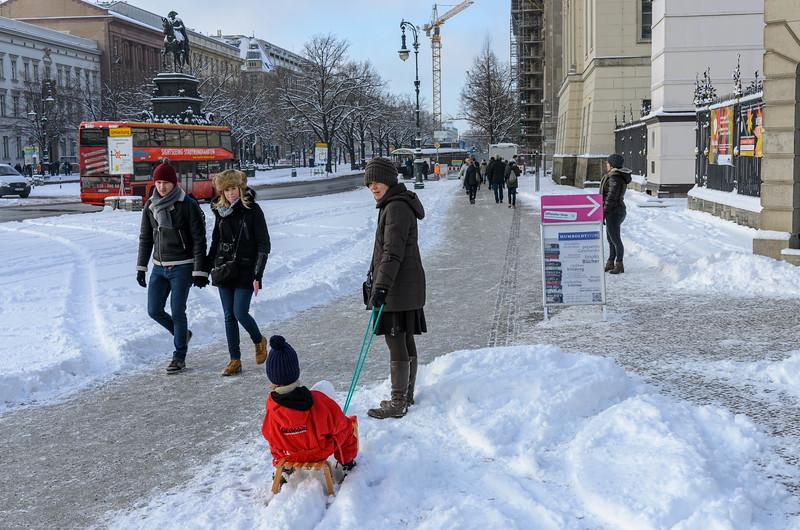 Unter den Linden in Snow