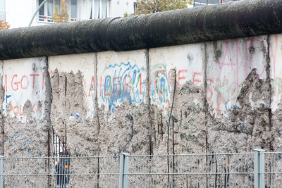 Part of the last remaining section of the Berlin Wall