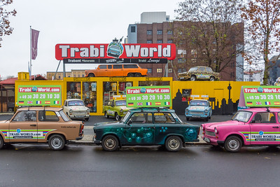 Museum devoted to the Trabant automobile, known as a Trabi. Buyers would wait for years to get one.
