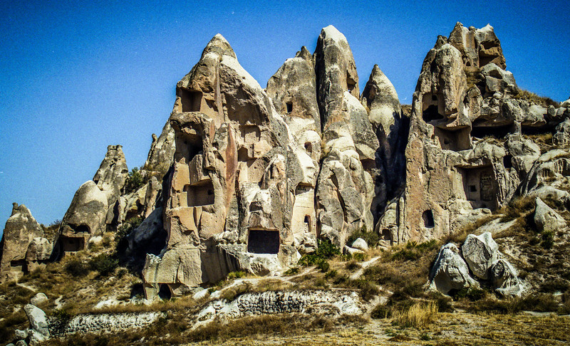 Cappadocia, Turkey<br /> Houses carved in volcanic rock.
