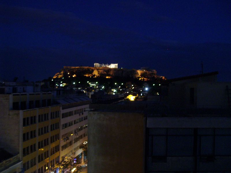 Acropolis, from our hotel roof garden