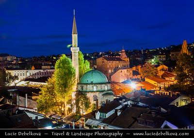 Europe - Bosnia and Herzegovina - Sarajevo - Сарајево - Capital city - Bascarsija district - Baščaršija - Historical City Centre along Miljacka River