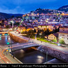 Europe - Bosnia and Herzegovina - Sarajevo - Сарајево - Capital city - Bascarsija district - Baščaršija - Historical City Centre along Miljacka River