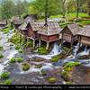 Europe - Bosnia and Herzegovina - Jajce - Water mills - Mlinčići - on River Pliva and Pliva lake - Historical mills built during Ottoman era