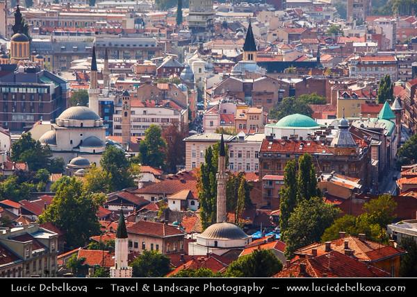 Europe - Bosnia and Herzegovina - Sarajevo - Сарајево - Capital city - Bascarsija district - Baščaršija - Panorama of Historical Centre of the City