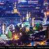 Europe - Bosnia and Herzegovina - Sarajevo - Сарајево - Capital city - Bascarsija district - Baščaršija - Panorama of Historical Centre of the City at Night