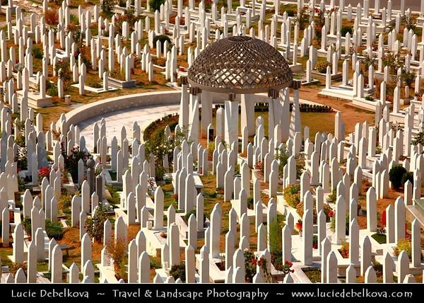 Europe - Bosnia and Herzegovina - Sarajevo - Сарајево - Capital city - One of several cemeteries in Sarajevo