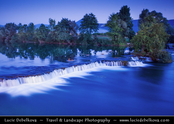 Europe - Bosnia and Herzegovina - North-west - Landscape on shores of River Una next to city of Bihać