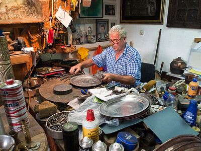 Kurt Ismet in his workshop in Mostar
