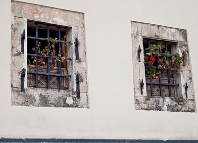 Windows in Mostar