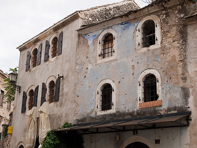 Buildings in the center of Mostar.