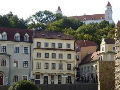Bratislava Castle looms over the city