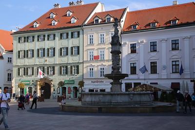 The Roland Fountain in the Main Square