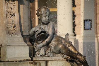 Fountain outside the Bratislava Opera House