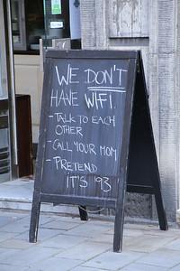 Found outside a Bratislavan restaurant