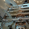 Elevators and central atrium. The Brillance had 13 decks