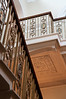 Part of the grand staircase. <br /> <br /> Basildon Park manor house, Berkshire, England.
