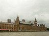 Houses of Parliament and Big Ben, on a rainy day.
