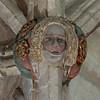 Roof boss, Malmesbury Abbey, Malmesbury, Wiltshire, England.