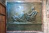 Memorial to Robert Louis Stevenson. St Giles' Cathedral, Edinburgh, Scotland.
