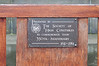 Plaque on the back of the bench at the base of the statue in the previous photo. The Society of High Constables and the King James Bible are the same age.