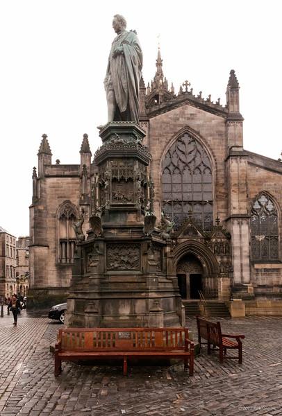 St Giles' on a rainy day
