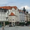 Brno. Buildings along Zelny trh