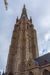 The tower of the Church of Our Lady, second tallest brickwork tower in the world.