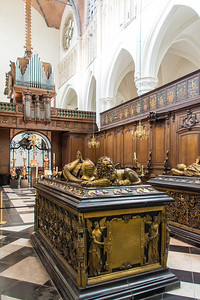Tombs of Charles the Bold and his daughter, the duchess Mary.