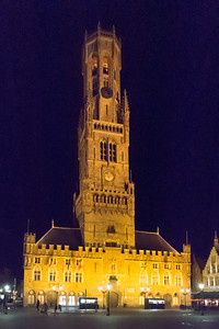 The Belfry of Bruges at night