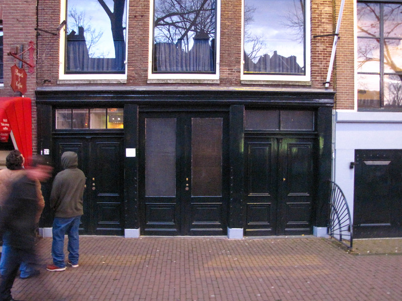The storefront of the building where Anne Frank and her family were hidden, Amsterdam.
