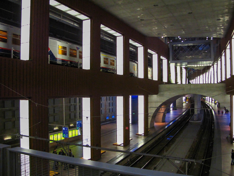 Antwerp's ultra-cool multi-level train station.