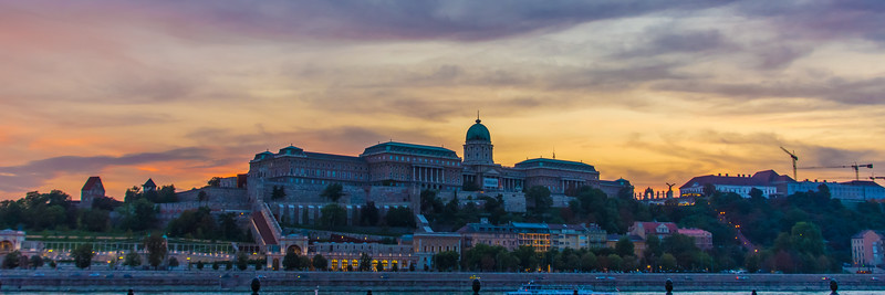 Sunset over the Buda Castle
