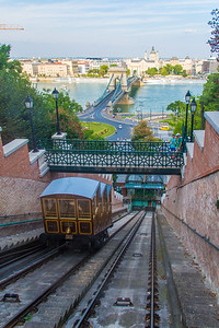 Taking the funicular down.