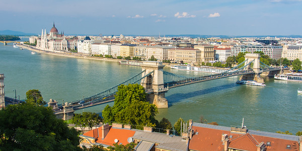 Széchenyi Chain Bridge over the Danube River