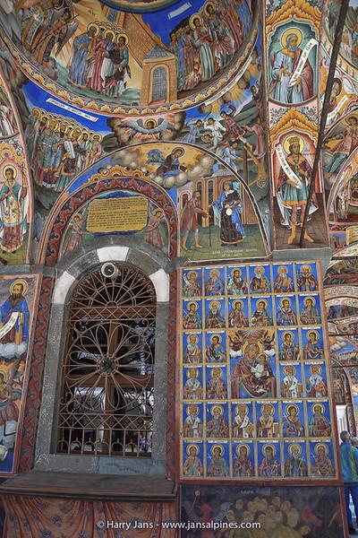Rila Monastery, details of a fresco