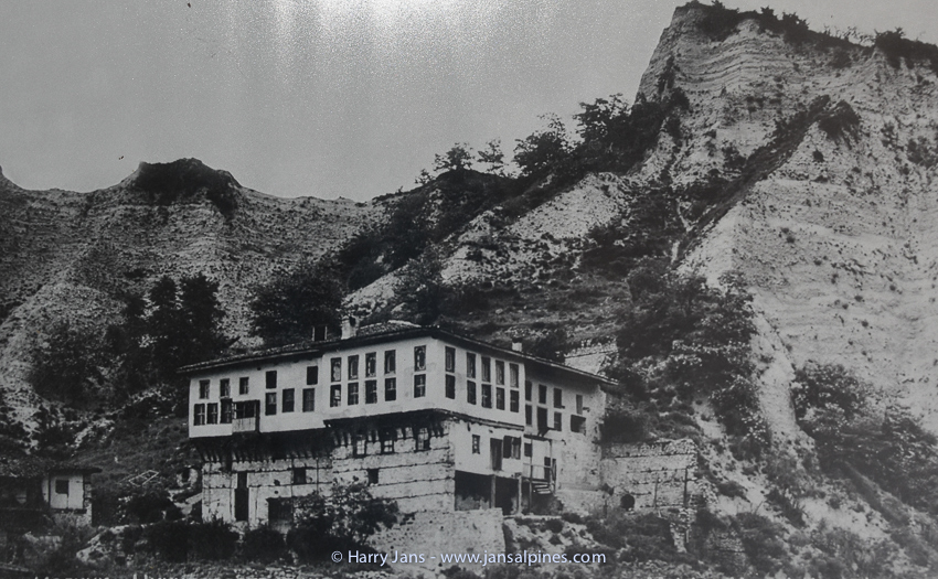old photograph from Kordopul House in Melnik